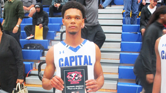 Zach Chappell of Capital Christian (Sacramento, Calif.) scored 38 points in an overtime win over Alemany (Mission Hills, Calif.) in the top individual performance we evaluated at the 2016 NorCal Tip-Off Classic. Photo: Ronnie Flores